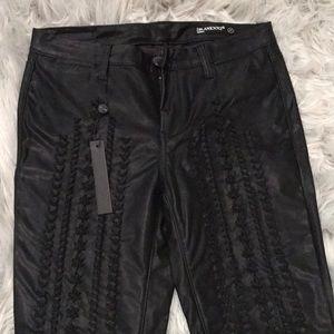 NWT Leather-look Jean Leggings